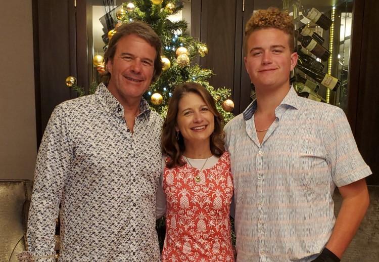 Len, Mindy and Lukas 2019 Christmas