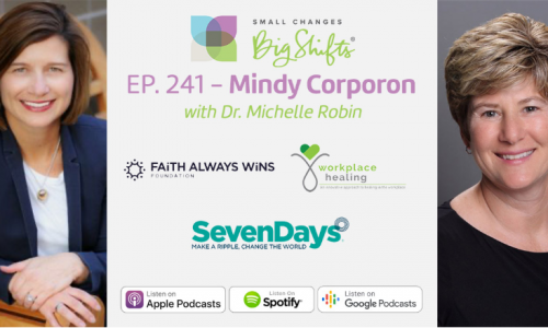 Mindy Corporon with Dr. Michelle Robin