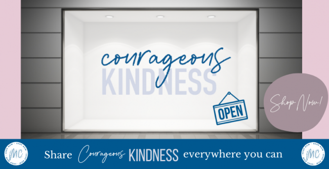 Courageous Kindness Line Website Graphic